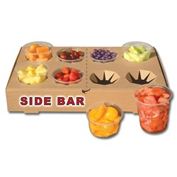 Imperial Dade - The Catering Box™ Natural Side Bar Catering